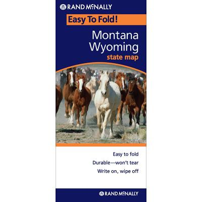 Rand Mcnally Montana & Wyoming By Rand McNally and Company (COR)
